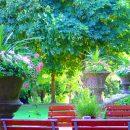 ספסל מתכת ועץ